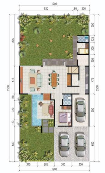 Meadow Lantai Bawah - Tipe 220/300